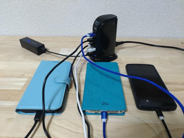 usb充電器  5ポート同時に充電